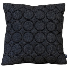 Cushion 3D circles new felt 60x60cm black melange