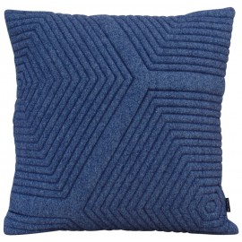 Cushion 3D maze 60x60cm new felt denim melange
