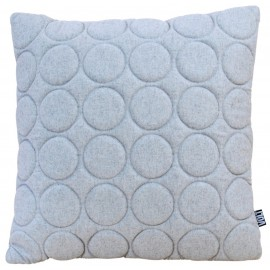 Cushion 3D circles 60x60cm new felt light grey