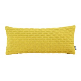 Cushion 3D small bricks 30x70cm bio cotton yellow melange