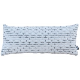 Cushion 3D small bricks 30x70cm bio cotton white/black melange