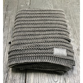 Knitted plaid Fatty carcoal stonewash