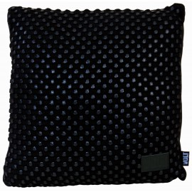 Cushion knitted black foil studs on black 45x45cm