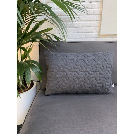 Cushion 3D Tripot hosiery charcoal grey 40x60cm