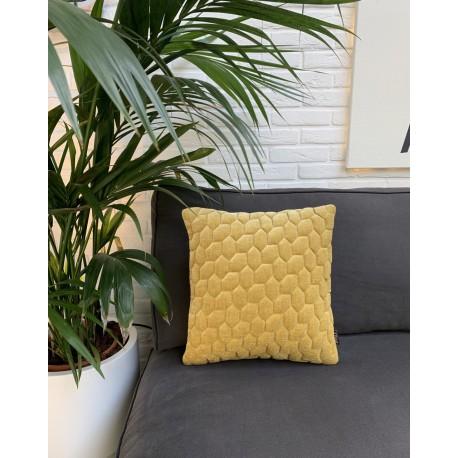 Cushion 3D Cells mol velvet gold 45x45cm