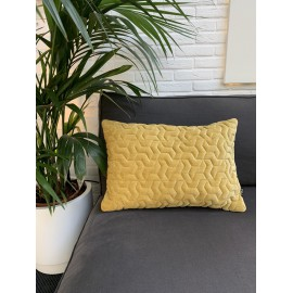 Cushion 3D Tripot mol velvet gold 40x60cm