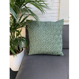 Cushion 3D Geometric new felt green 60x60cm