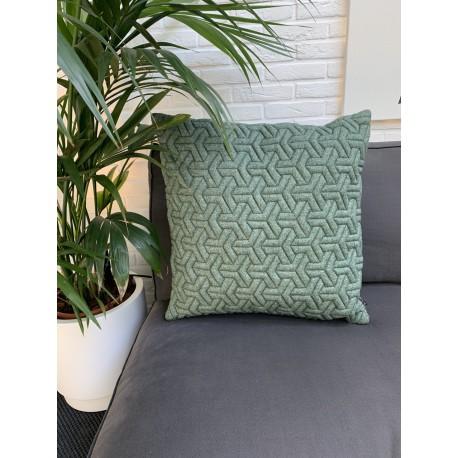 Cushion 3D Geometric new felt green 60x60cm