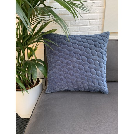 Cushion 3D Cells velvet Blue 60x60cm