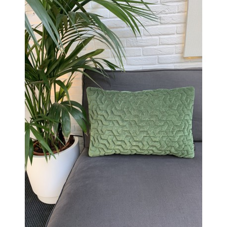Cushion 3D Tripot velvet green 40x60cm