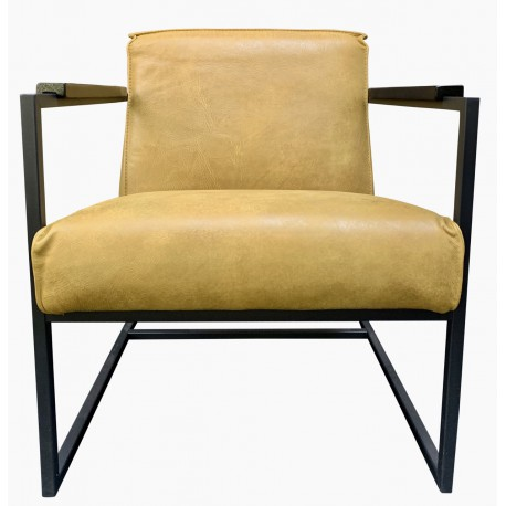 Chair Wolf Mustard thick leather