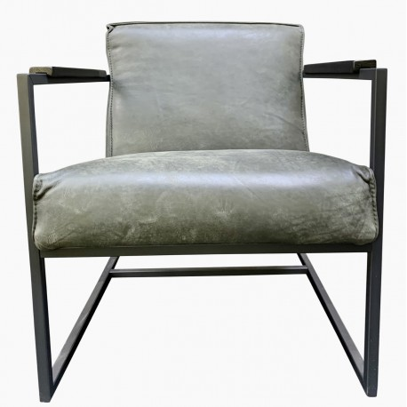 Chair Wolf Dark green thick leather