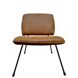Chair Mick Mustard thick leather
