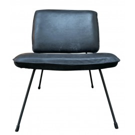 Chair Mick Graphite thick leather