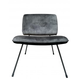 Chair Mick vintage velvet Cold lava