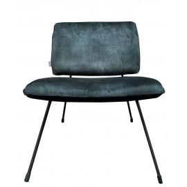 Chair Mick vintage velvet black/blue