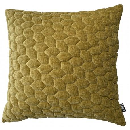 Cushion 3D Cells mol velvet gold melange 60x60cm