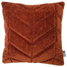 Cushion 3D Fishbone velvet dark rust 45x45cm