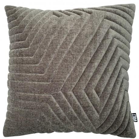Cushion 3D New Maze velvet grey 60x60cm
