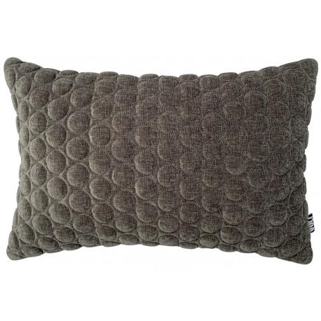Cushion 3D Small circles velvet grey 40x60cm
