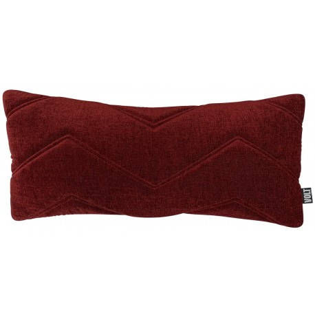 Cushion 3D Zigzag velvet dark maroon 30x70cm