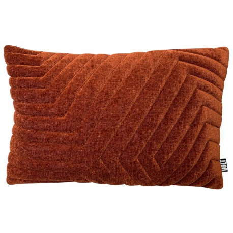 Cushion 3D New Maze velvet Rust 40x60cm
