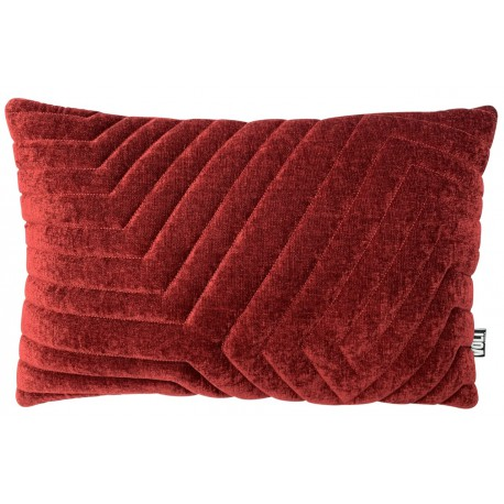 Cushion 3D New Maze velvet Dark Maroon 40x60cm