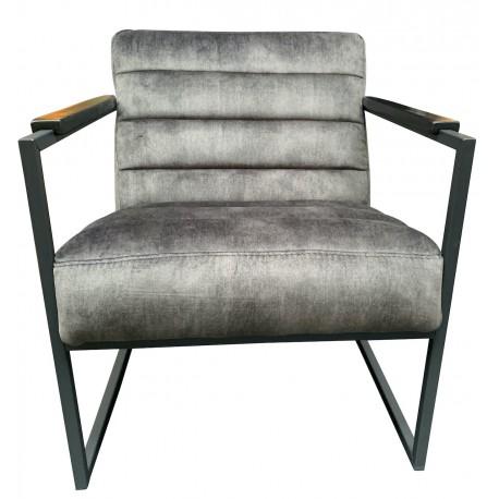 Chair Edgar vintage velvet cold lava