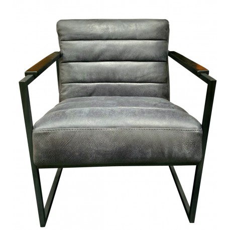 Chair Edgar thick leather Graphite