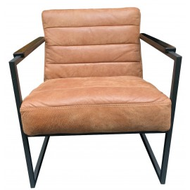 Chair Edgar thick leather Walnut